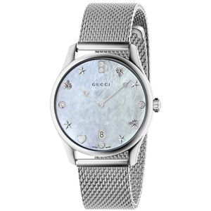 Gucci G-Timeless Diamond & Mother of Pearl Watch